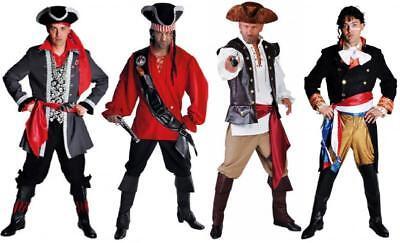 Pirat Piraten Seeräuber Freibeuter Anzug Kostüm Herren Piraten Piratenkapitän ()