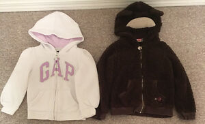 Gap, Roxy Hoodies Toddlers sz 4T
