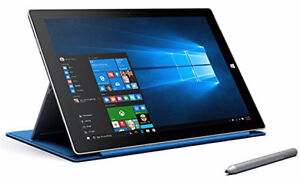 Microsoft Surface Pro 3 Tablet with Blue Keyboard + Charger
