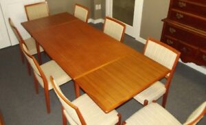 RETRO Solid Teak 9 Piece Dining Set