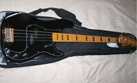 Fender Squier Classic Vibe 70s Precision P Bass Black w/ gigbag