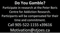 Gamblers wanted for research studies- Compensation provided