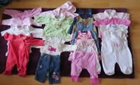 Lot de vêtements fille 3-6 mois - 30$