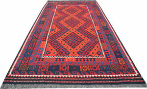 Vintage Kilim Rug, 9'7X5'2 Ft, Afghan Kilim Rug, Home Decor Rug