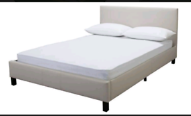 Brand new cream double bed frame