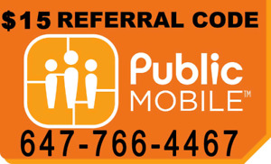 $15 Public mobile referral code - LIMITED TIME