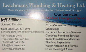 Leachmans plumbing and heating