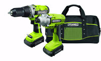 ROCKWELL RK1801K2 18V CORDLESS DRILL AND IMPACT KIT + 2 BATTERY