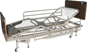 Full Electric Bed with Half Rails and Innerspering Mattress
