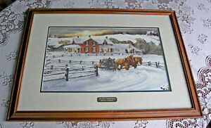 Country Homestead-Walter Campbell (Framed snd Double Matted)