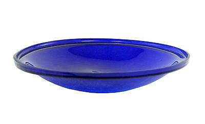 "Achla 14"" Cobalt Blue Crackle Glass Bowl CGB-14CB"