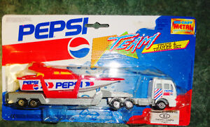 Diecast Pepsi Cola Transport Truck / Trailer Set / Speed Boat