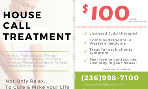 House call Treatment !Shiatsu!If you need to Cure,let me know!
