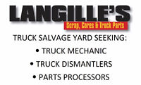 Truck Salvage Yard - Now Hiring!