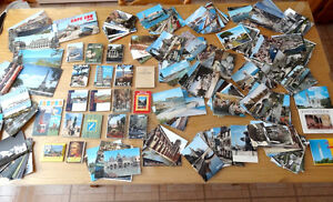 CARTES POSTALES 1960-62, PLUS DE 450, + ALBUMS PHOTOS CARTES
