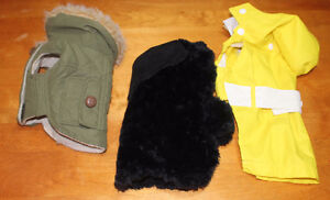 Small XS dog coats. jackets and a dog carrier Belleville Belleville Area image 1