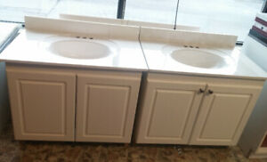 **For Sale - New bathroom vanity with marble countertop