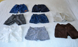 Size 12 months, assorted shorts for spring and summer