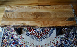 Live edge coffee table | Made from NS wood | Curly Maple & Elm |