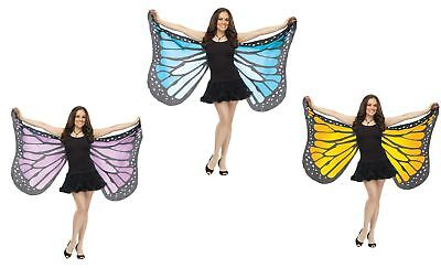 Monarch Wings Costume (Soft Fabric Adult Monarch Butterfly Wings Nymph Fairy Costume)