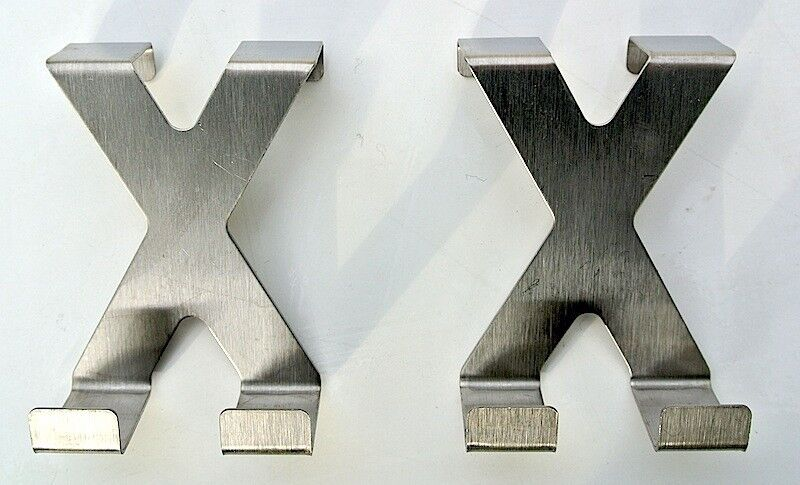 na-und Edelstahl Türhaken 2 Stück Set X X  50x66mm