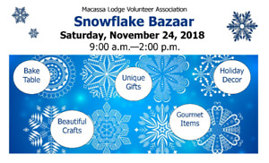 Craft Vendors Wanted - Macassa Lodge Snowflake Bazaar - Nov. 24