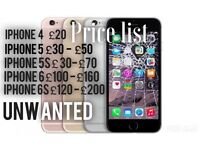 Fast money! Sell your damaged iPhone tablet or mobile!