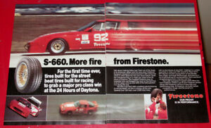 1983 FIRESTONE S-660 TIRES AD WITH MAZDA RX-7 RACING - RETRO 80S
