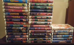 !!$50!!36 Disney VHS Movies, 9 Other Classics AND a TV/VCR Combo