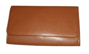 BNWT LARGE BROWN TAN LEATHER LOOK OVERSIZED ENVELOPE CLUTCH HANDBAG PURSE BAG UK