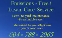 Emissions-Free Lawn Care Service