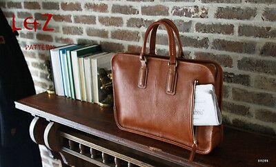 leather craft pattern briefcase pattern BDQ-31 gripesack pattern handmade bag