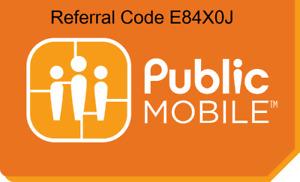 Public mobile (Telus) $10 off code - E84X0J & $2 off on Autopay