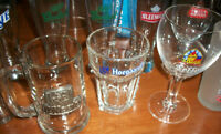 12  Verres de Bières, Beer glass collection ,Stella Artois +++