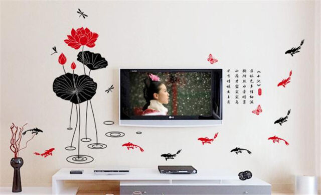 Free fish Home Decor Removable Wall Sticker Decal Decoration Vinyl Mural