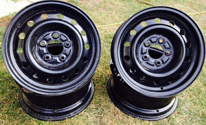 4 black 5 bolt rims for sale