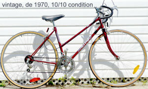 Vintage! Velo de route de 1970. 10/10 condition. Jamais usage