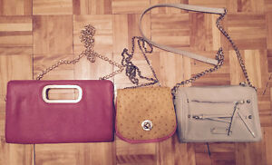 PACKAGE OF 6 FASHION PURSES ! ENSEMBLE DE 6 SACOCHES !