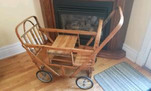 Antique wood stroller