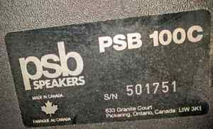 4 jbl 100 watt satellite speakers and psb 100w center channel  Sarnia Sarnia Area image 7