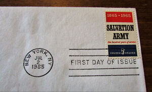 1965 Centenary Salvation Army 5 Cent First Day Cover Kitchener / Waterloo Kitchener Area image 3