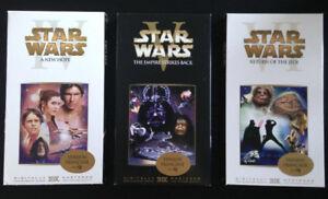 Coffret Trilogie Star Wars Cassettes VHS en français