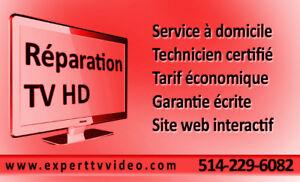Votre réparateur de télévisions HD