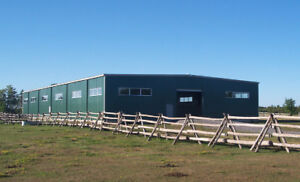 STEEL BUILDINGS FOR BARNS, GARAGES, HORSE STALLS AND WAREHOUSES