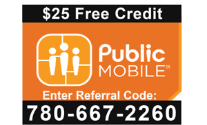 Public Mobile $25 Free Credit when sign up