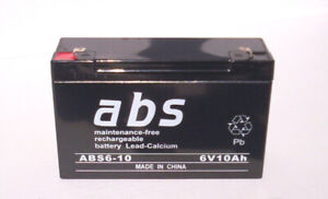6 volt 10 Ah AGM batteries for UPS and emergency lighting