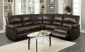 3PC leather reclining sectional
