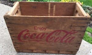 Wooden Coca Cola Coke Crate