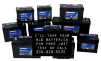 I take old batteries free.