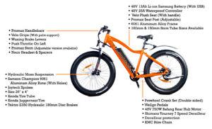 """750W Rear Drive Electric Fat Bike MTB, 48V 13AH Li-Ion, 26""""x 4"""""""